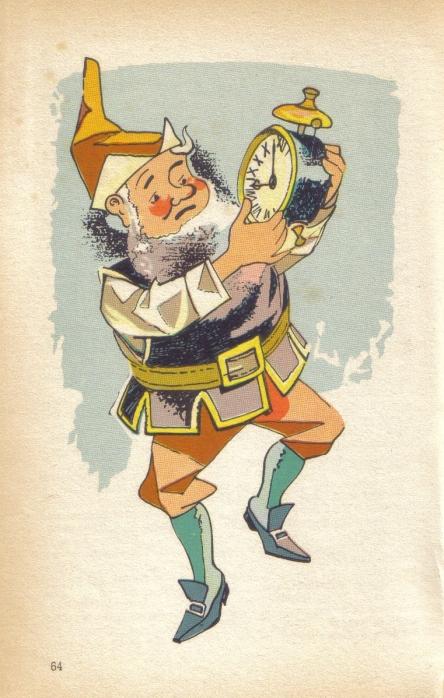 Kabouter Puntmuts met zijn knorrige wekker